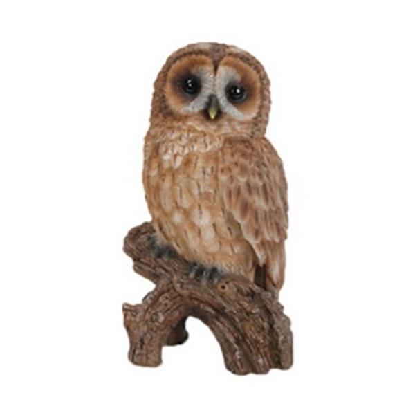 Hi-Line Gift Tawny Owl on Stump,87767-D