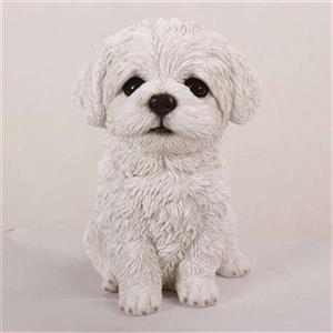 Hi-Line Gift Maltese Puppy Statue,87771-12