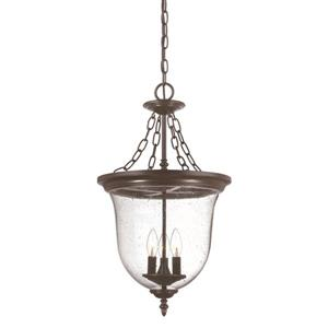 Acclaim Lighting Belle Outdoor Lantern - 3 Lights - Bronze