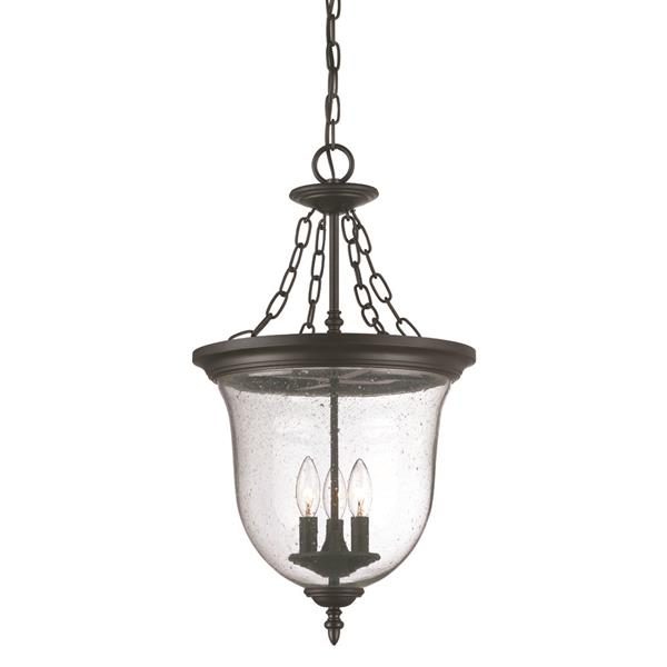 Acclaim Lighting Belle Outdoor Lantern - 3 Lights - Black
