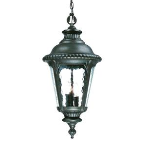 Acclaim Lighting Surrey Lantern - 3 Lights - Black