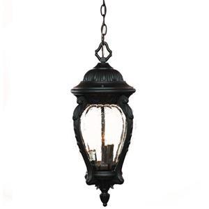 """Lanterne Nottingham, 22"""", 3 lumières, noir"""