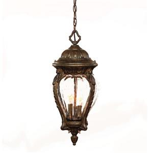 Acclaim Lighting Nottingham Outdoor Lantern - 3 Lights - Black