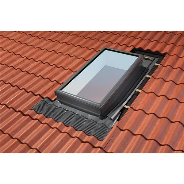 Velux Curb Mount For 30 Width High Profile Tile Roof Flashing Kit Rona