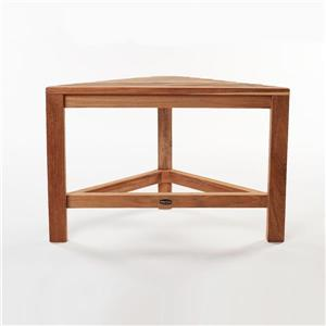 "Gala Teak Corner Shower Bench - 24"" - Teak - Natural Wood"