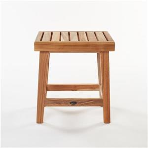 "Gala Teak Shower Bench - 16"" - Teak - Natural"