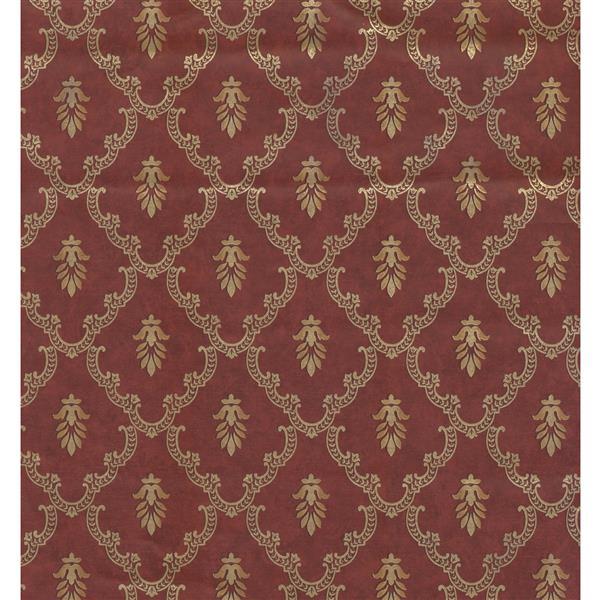 York Wallcoverings Trellis Traditional Wallpaper - Bordo