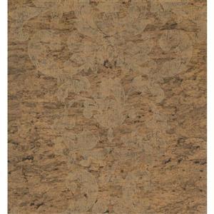 Trellis Traditional Wallpaper - Beige/Brown