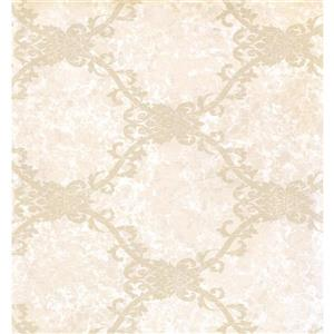 Trellis Traditional Wallpaper - Cream