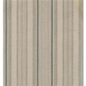Stripes Modern Wallpaper - Cream/Green