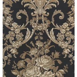 Floral Colourful Wallpaper - Beige/Brown