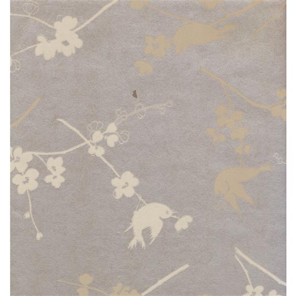 York Wallcoverings Floral Colourful Wallpaper - Violet