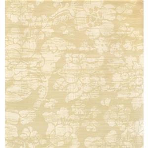 Floral Colourful Wallpaper - Beige