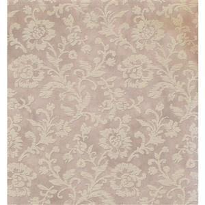 Floral Colourful Wallpaper - Beige/Violet