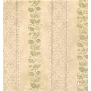 Floral Colourful Wallpaper - Cream