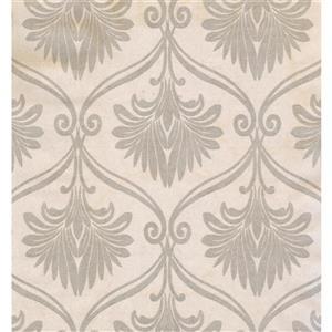 Floral Colourful Wallpaper - Cream