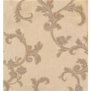 Floral Colourful Wallpaper - Beige