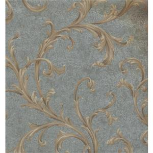 Floral Colourful Wallpaper - Beige/Blue