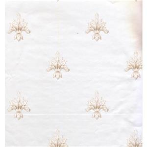 York Wallcoverings Damask Traditional Wallpaper - White/Beige