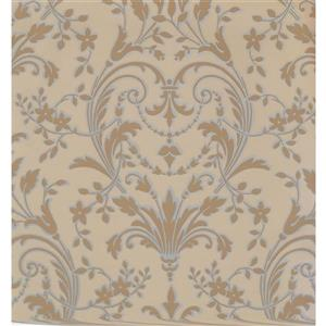 Damask Traditional Wallpaper - Cream/Beige