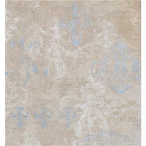 York Wallcoverings Damask Traditional Wallpaper - Grey