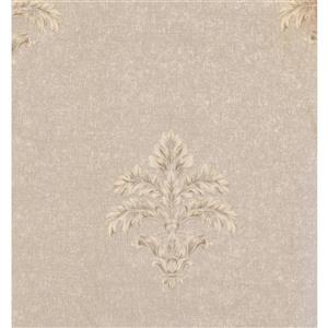 York Wallcoverings Damask Traditional Wallpaper - Cream