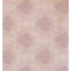 York Wallcoverings Damask Traditional Wallpaper - Cream/Pink