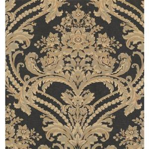 Damask Traditional Wallpaper - Cream/Brown