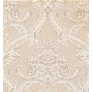 York Wallcoverings Damask Traditional Wallpaper - Beige