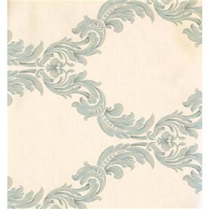 York Wallcoverings Damask Traditional Wallpaper - Cream/Green