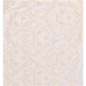 York Wallcoverings Damask Traditional Wallpaper - Violet/Beige