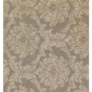 York Wallcoverings Damask Traditional Wallpaper - Brown/Beige