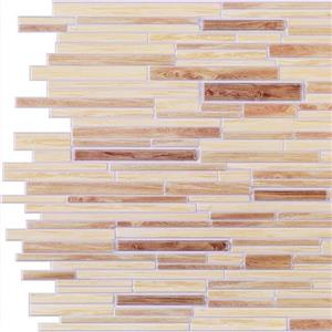 "Retro Art 3D Retro Wall Panel - PVC - 37"" x 19"" - Beige, Light Brown"