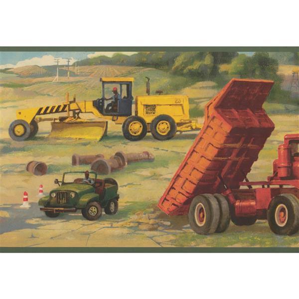 Retro Art Construction Site Wallpaper Border Rona