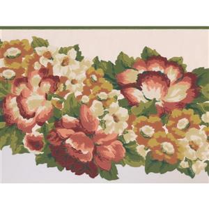 Retro Art Abstract Floral Wallpaper Border