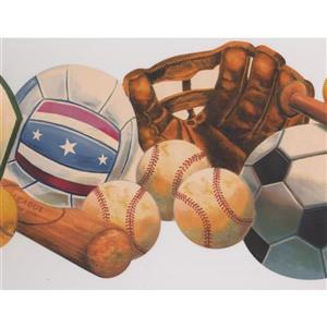 Retro Art Sports Wallpaper - Multicolour