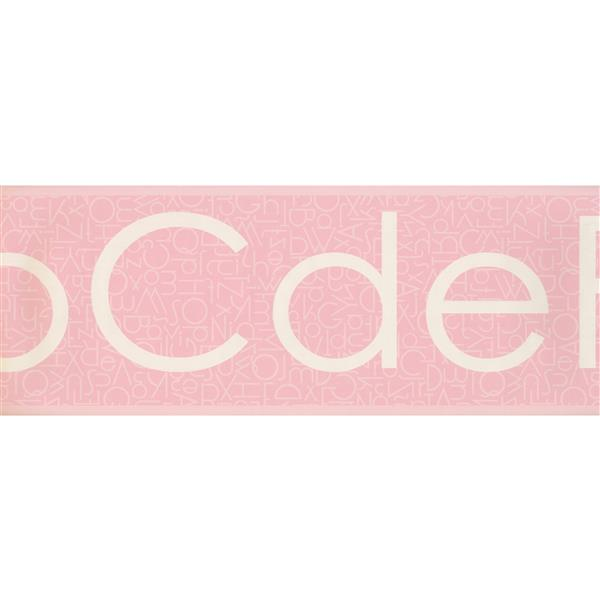 Retro Art Classic Alphabet Wallpaper Border - Pink