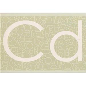 Retro Art Classic Alphabet Wallpaper Border - Beige
