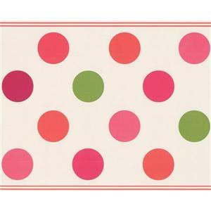 Retro Art Polka Dot Wallpaper - White