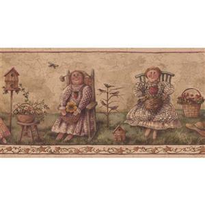 Retro Art Vintage Ladies Wallpaper - Beige