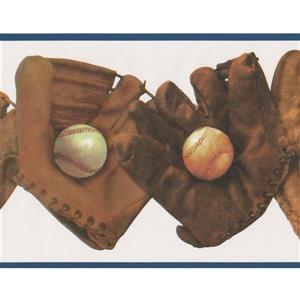 Retro Art Baseball Gloves and Balls Wallpaper