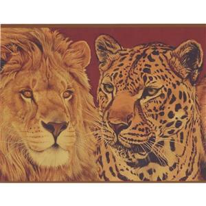 Retro Art Lion and Tiger Wallpaper