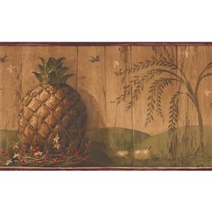 Retro Art Vintage Pineapple Wallpaper