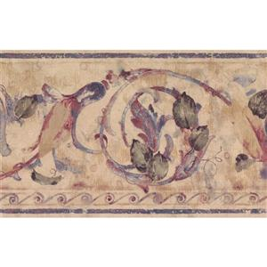 Retro Art Vintage Damask Wallpaper - Purple/Beige