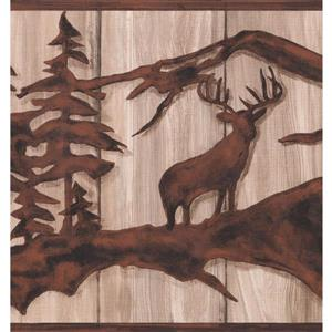 York Wallcoverings Wild Forest Deer and Bear Wallpaper