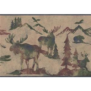 Retro Art Wildlife Outdoor Wallpaper - Beige