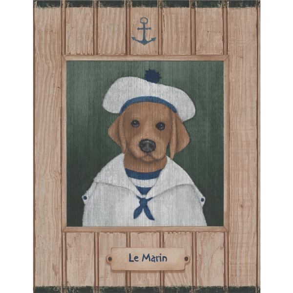 York Wallcoverings Dog Sailor Nautical Wallpaper Border