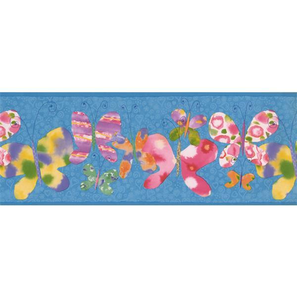 Retro Art Butterfly Wallpaper - Blue