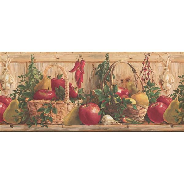 York Wallcoverings Garden Basket Kitchen Wallpaper