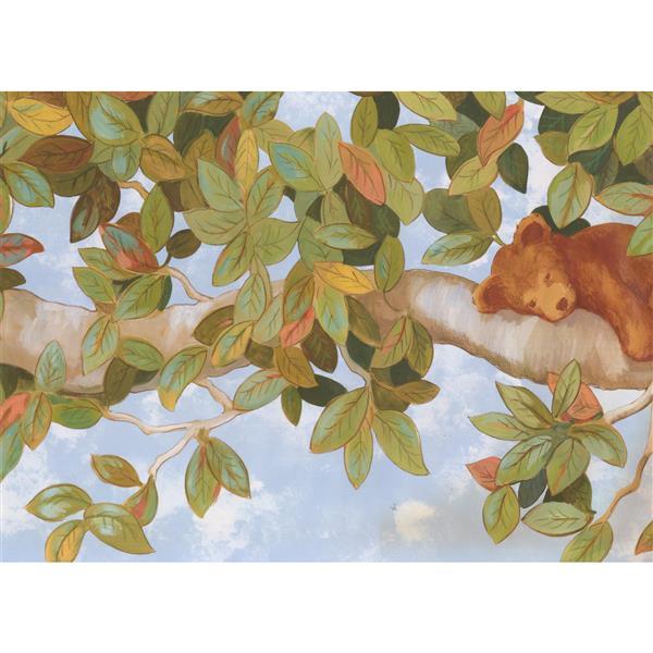 York Wallcoverings Bear on a Tree Wallpaper Border